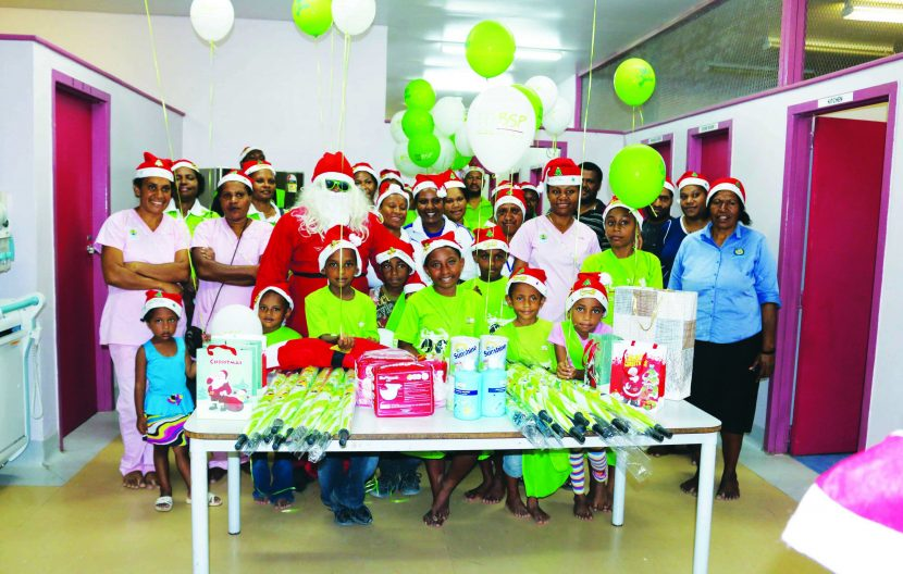 BSP staff share Christmas cheer  with sick children and mothers