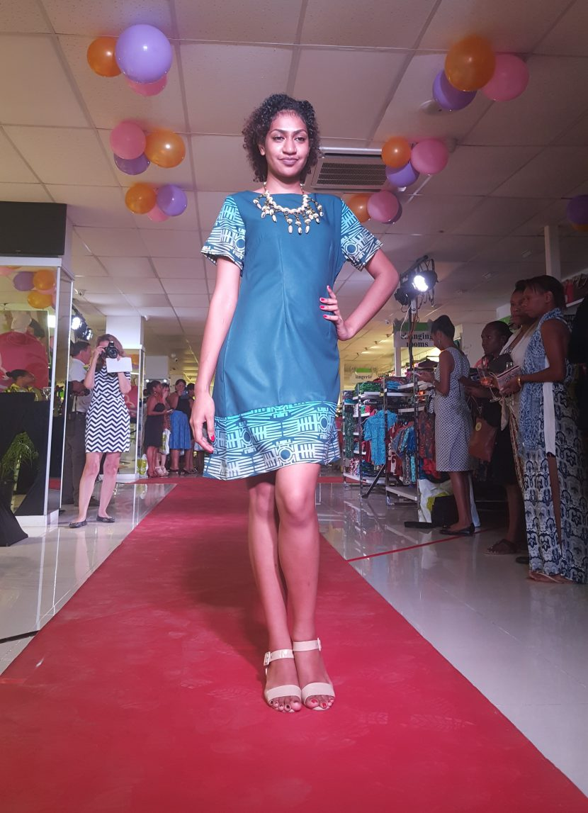 Sarah launches her fashion line at Jack's of PNG