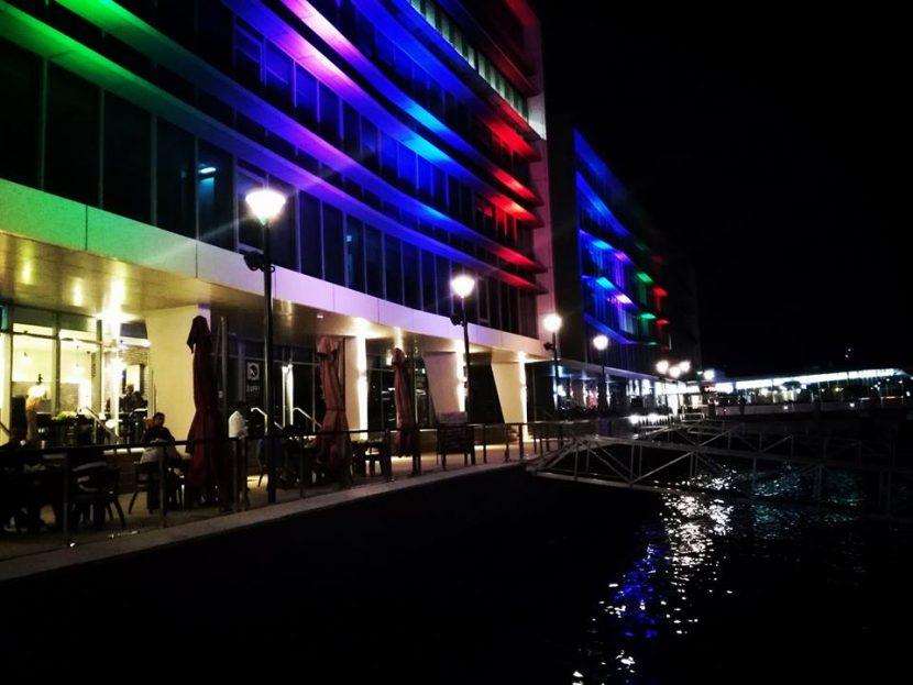 Dining at the harbourside in Port Moresby