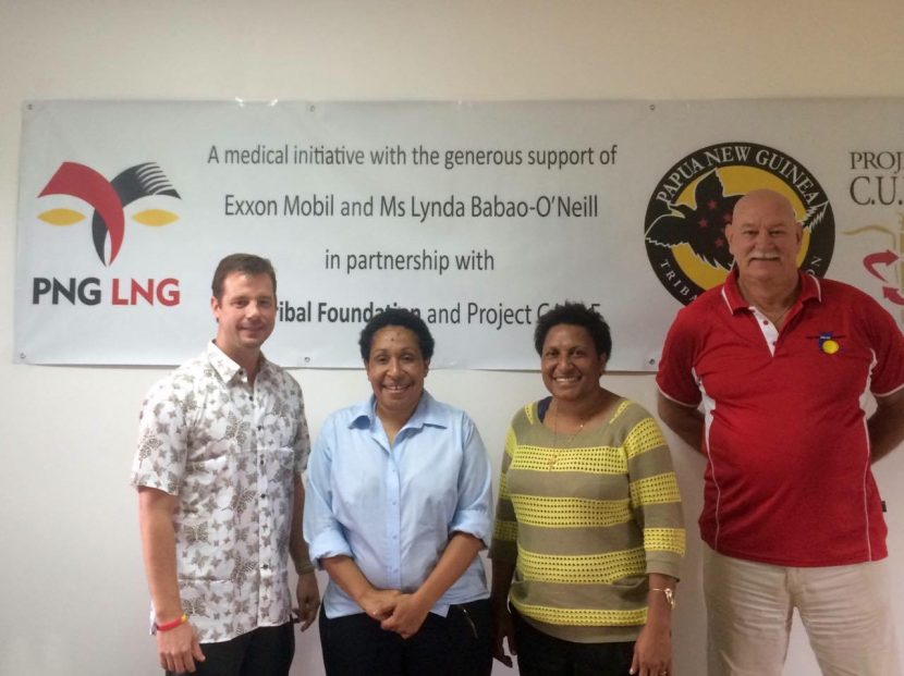 ExxonMobil PNG Limited and PNG Tribal Foundation Deliver Medical Containers to Four Hospitals With Help of Mrs. Lynda Babao O'Neill