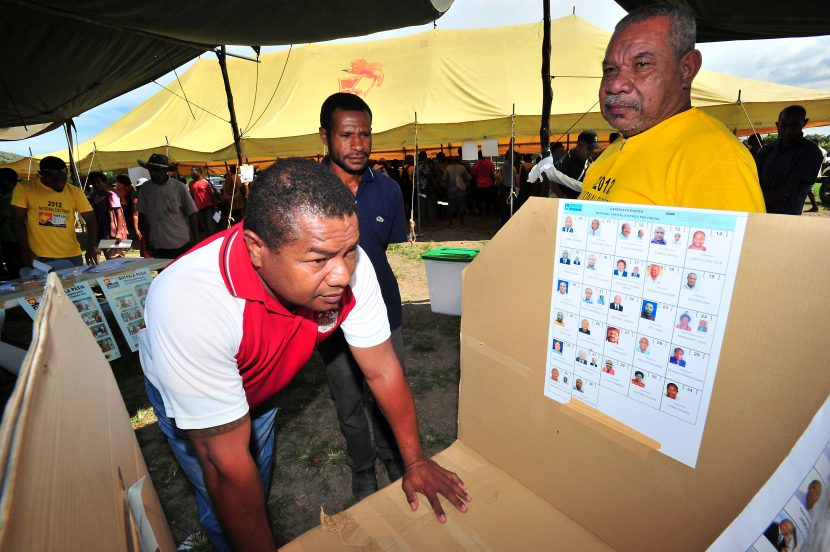 Putting the name to a face in PNG elections