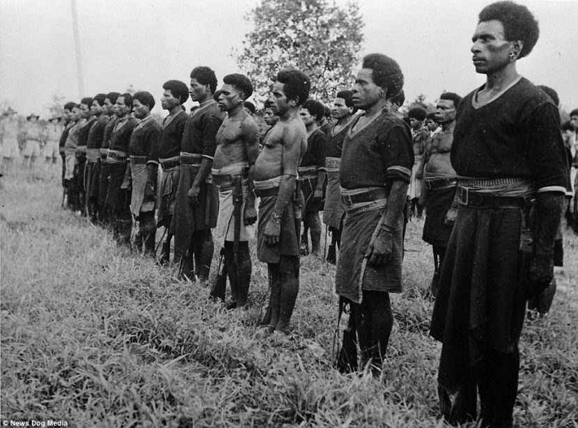 Incredible pictures reveal how heroic tribes in PNG were during World War Two