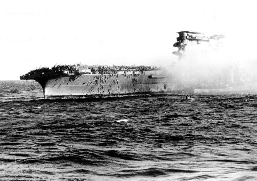 Lost in 1942, Quincy-built Lexington found in Coral Sea