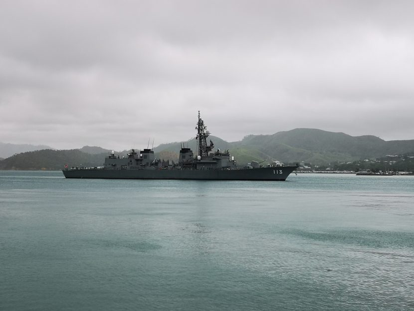 Welcome Japanese Frigate to PNG